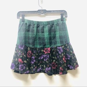 LF Furst of a Kind Flannel Floral Skirt
